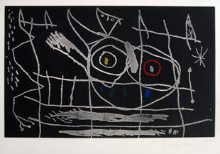 MIRO : couple-lithograph