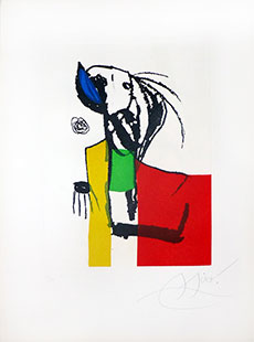 MIRO : miro-chanteur-3-etching
