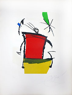MIRO : miro-chanteur-4-etching