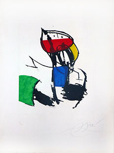 MIRO : miro-chanteur-5-etching
