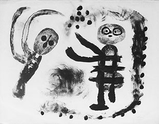MIRO : miro-fille-lithographie