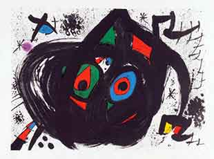 MIRO : miro-hommage-lithographie