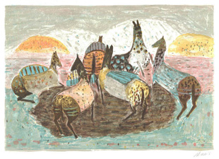 MUSIC : music-horses-lithograph