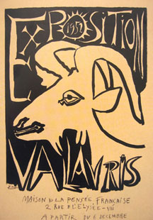 PICASSO : Expo Vallauris 52, affiche