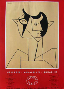 PICASSO : collages, affiche