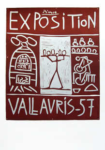 PICASSO : picasso vallauris 57 affiche