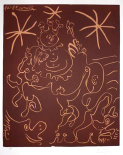 PICASSO : picasso-carnaval-linocut