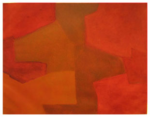 POLIAKOFF : Composition orange et rouge