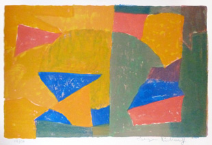 POLIAKOFF : poliakoff-composition-lithograph