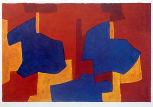 POLIAKOFF : lithograph-composition-poliakoff