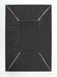 TAPIES : la porte, original etching