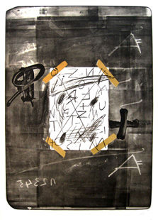 TAPIES : scotch, lithographie