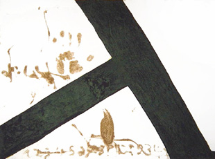 TAPIES : t inclinada, etching