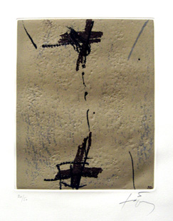 TAPIES : repliquer3, etching