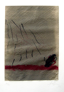 TAPIES : repliquer4, etching