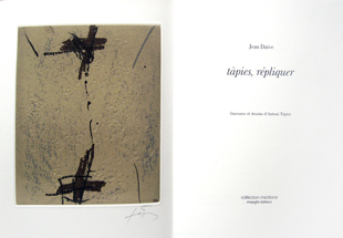TAPIES : repliquer, book
