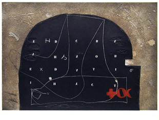 TAPIES : arc, etching