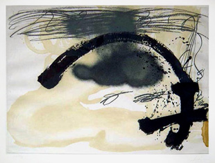TAPIES : arc i creu, engraving