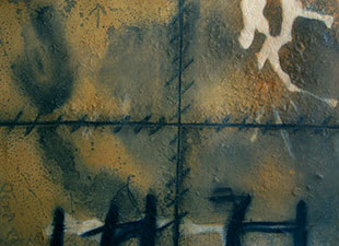 TAPIES : tapies-etching-matiere