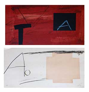 TAPIES : tapies-lithographs