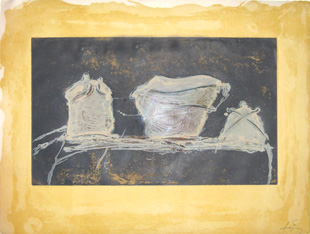 TAPIES : tapies-vaisselle-etching