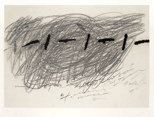 TAPIES : tapies-ecriture-etching