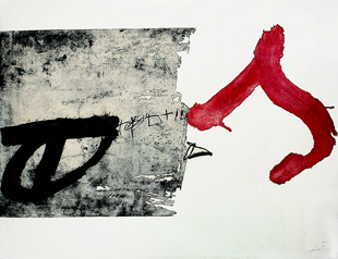 TAPIES : tapies-lettre-etching