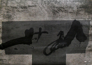 TAPIES : tapies-t-etching