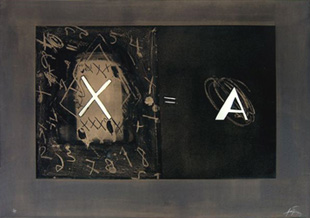 TAPIES : tapies-X.A-etching