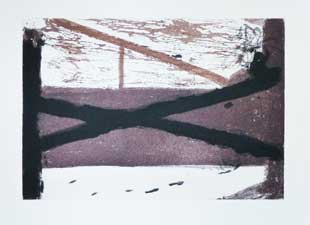 TAPIES : tapies-lit-etching