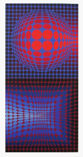VASARELY : gordes-screenprint