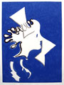 BRAQUE : profil, original woodcut