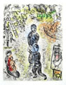 CHAGALL : retour, etching
