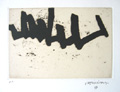 CHILLIDA : continuation1, etching