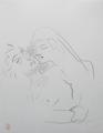 Jean cocteau dessin femme nu